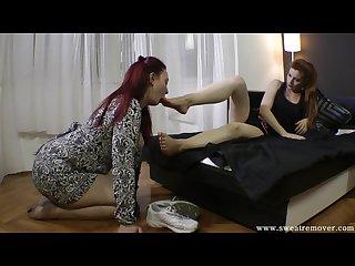 Slave adore mistress feet