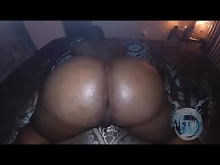 Thick bubble butt guy bouncing on a big black dick