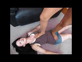 Gia primo tramples her slavegirl and has her feet licked