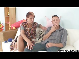 Granny seduces her daughter S bf