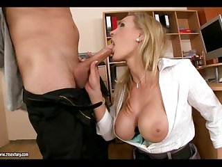 Office cougar fucking stud