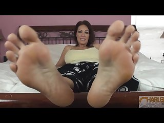 Charlee chase here s my big feet