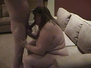 Bbw girlfriend blows my buddy while i go on a beer run