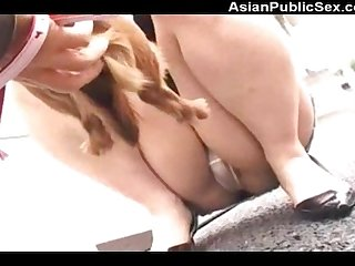 Cute asian dog with spycam is used too Spy under sexy girls miniskirt