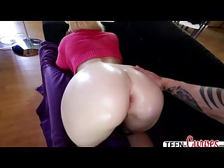 Hot Victoria gets her amazing ass oiled up and her pussy gets fucked
