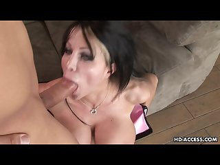 Milf babe is on the pecker giving it a full service