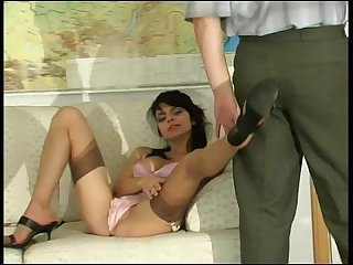 Gertie Vika horny student in pantyhose warms her teacher until sex