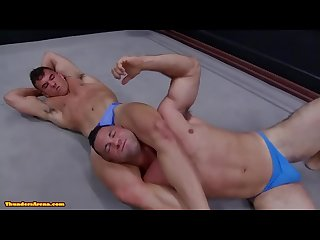 Daddy and son Wrestling daddy is so hot in minimal speddo almost a thong