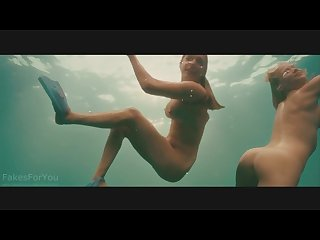 Kelly brook piranha 3d swimming naked