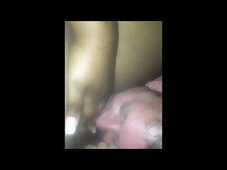I let my married neighbor eat my pussy in his garage he D been begging