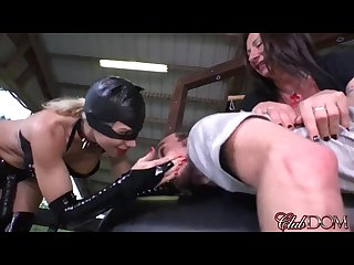 Kylie rogue Catwoman and venus pegged loser slave