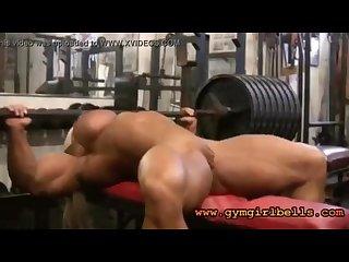 Body builder workout morph