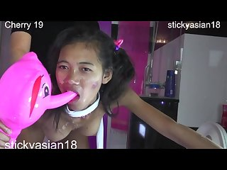 Stickyasian18 petite cherry loves fucking in the bathroom