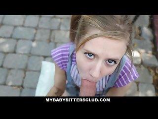 Mybabysittersclub petite baby sitter caught masturbating