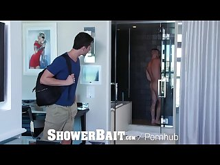 Showerbait double trouble shower fuck