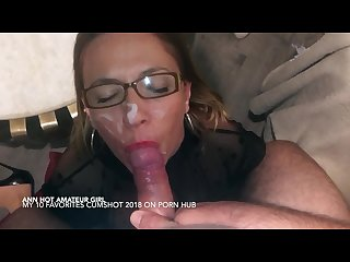 The queen of cock sucking and cumshot facial 2018 hot amateur girl pov