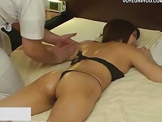 Asian massage girl giving a special massage