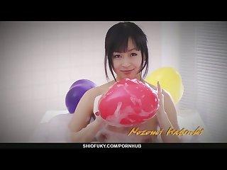 Nozomi hatsuki masturbates until she squirts