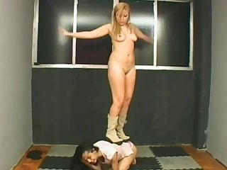 Booted mistress rides her ponygirl