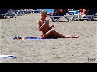 Notgeil am strand in spanien public im urlaub schnuggie91