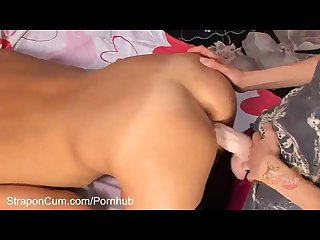 Straponcum pink surprise part 3 of 4 a hot blonde comes home to find