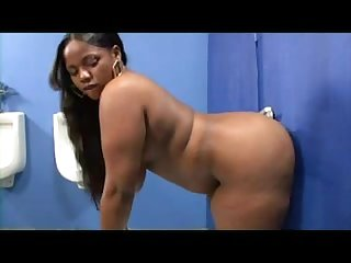 Big black booty on gloryhole