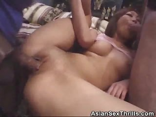 Asian sandwiched in a threesome