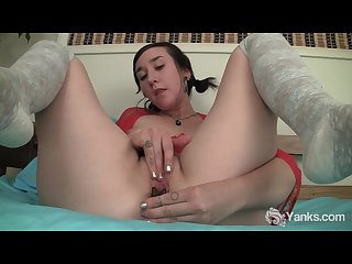 Small breasted girl artemis masturbating