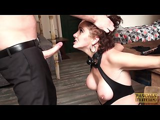 Redhead milf lizzy lovers cuffed stuffed hard in the ass