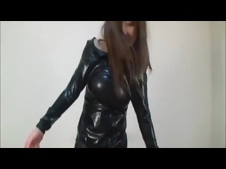 Japanese in latex breathplay