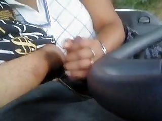 Tamil girl blowjob in a van