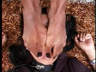 Brazil black feet worship