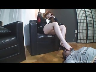 Foot licking slave