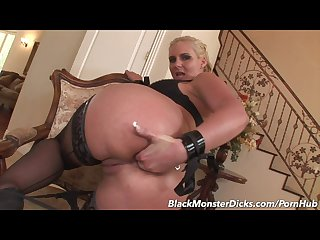 Blonde milf phoenix marie gets interracial ass fucked by a big black cock
