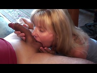 Mature blonde sucks and swallows her pornhub subscriber