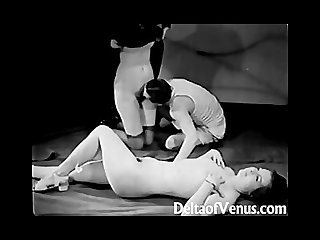 Vintage porn 1930s ffm threesome nudist bar
