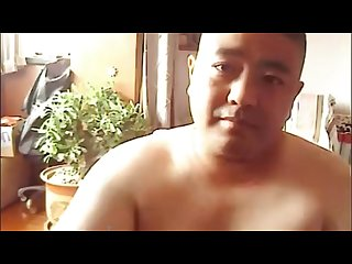 Chinese chubby daddy bear solo