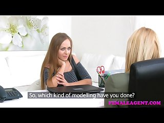 Femaleagent busty russians first lesbian orgasm with sexy blonde agent