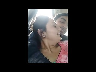 Indian marrried girl Romance with ex boyfriend in car nd kissing each other