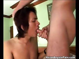 Thai 2 getting face fucked slapped used hard by longhair