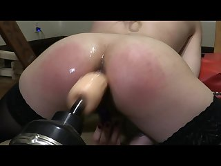 Using the fuck machine at a my kink party