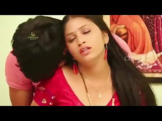 Hot figure mamatha enjoy with servant in red saree
