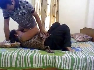 Pakistani house owner Aunty with her paying Guest lover