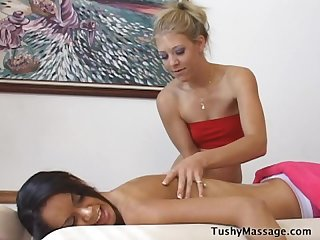 Skinny girl massage