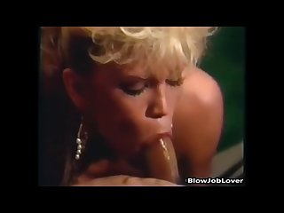 Porn star amber lynn gives a guy a blowjob