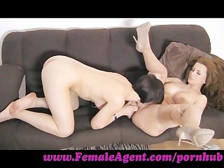 Femaleagent finger licking good