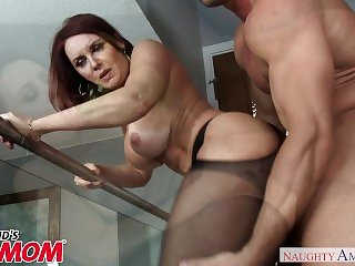 Redheaded milf Janet mason seduces her son s young friend naughty america