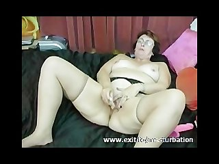 Dildo orgasm 62 years granny Monique
