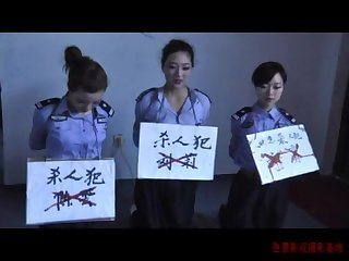 3 chinese girls playing in bondage