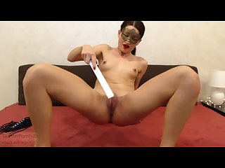 Self punishment pt3 500 spanks slaps whip ruler paddle pain then cum